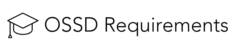 OSSD Requirements Logo
